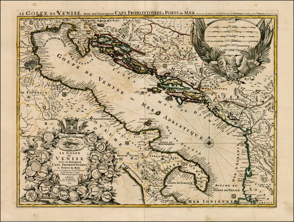 35-Balkans, Italy and Balearic Islands Map By Alexis-Hubert Jaillot