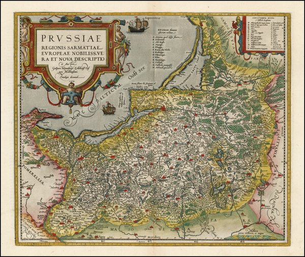 52-Germany, Poland and Baltic Countries Map By Abraham Ortelius
