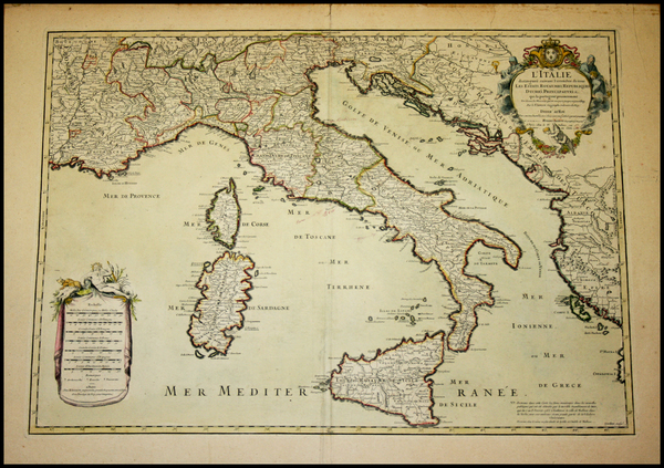 66-Italy Map By Alexis-Hubert Jaillot