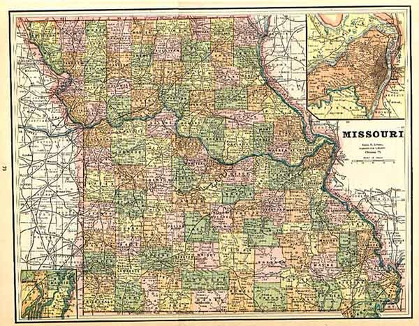 11-Midwest Map By George F. Cram