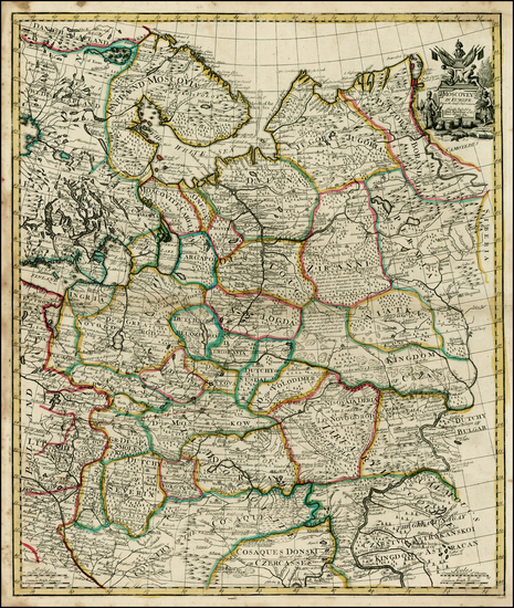 85-Russia and Ukraine Map By John Senex