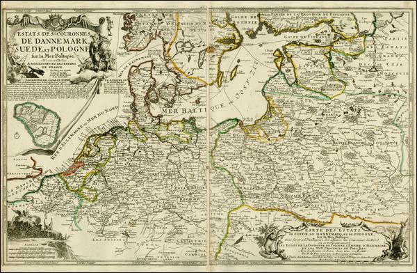 27-Germany, Poland, Baltic Countries and Scandinavia Map By Nicolas de Fer