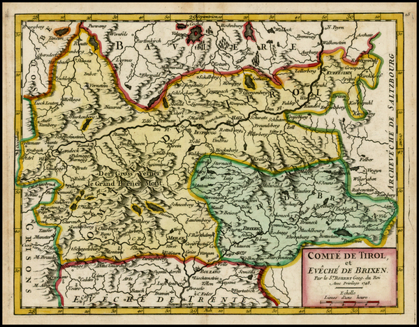 22-Austria and Italy Map By Didier Robert de Vaugondy