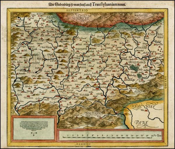 71-Romania and Balkans Map By Sebastian Munster