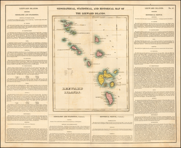 45-Caribbean Map By Henry Charles Carey  &  Isaac Lea