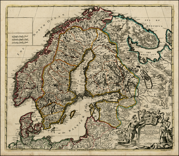 19-Baltic Countries and Scandinavia Map By John Senex