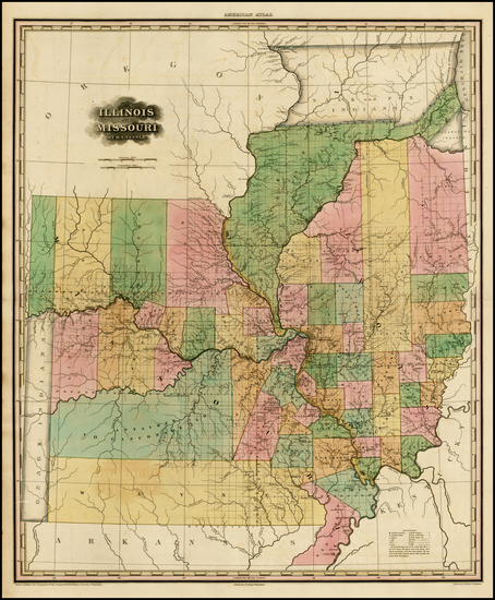 55-Midwest, Illinois, Plains and Missouri Map By Henry Schenk Tanner