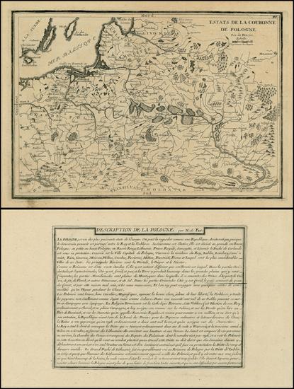 28-Poland, Russia, Ukraine and Baltic Countries Map By Nicolas de Fer