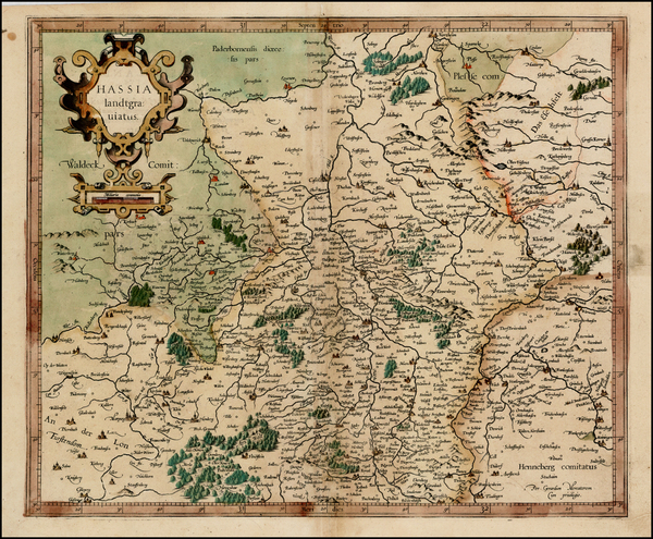 80-Germany Map By  Gerard Mercator