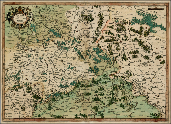 42-Germany, Poland and Czech Republic & Slovakia Map By  Gerard Mercator