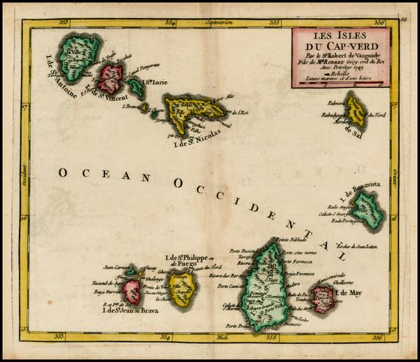 2-African Islands, including Madagascar Map By Didier Robert de Vaugondy