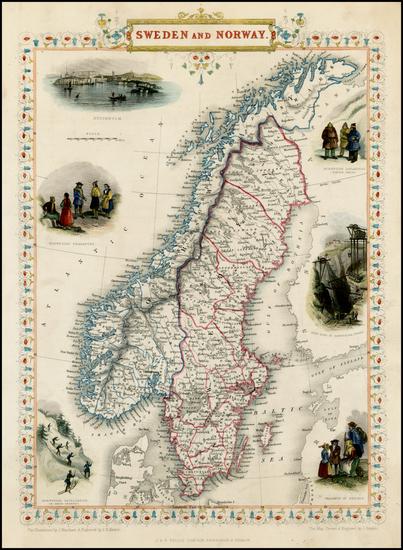 92-Scandinavia Map By John Tallis