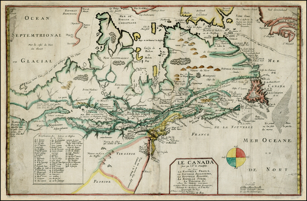 43-New England, Mid-Atlantic, Midwest and Canada Map By Pierre Du Val