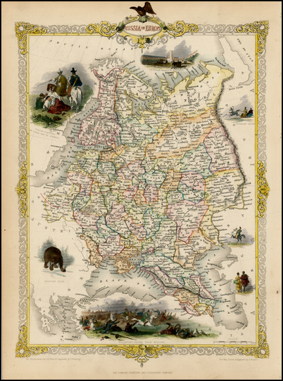 6-Russia and Ukraine Map By John Tallis