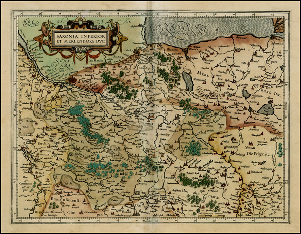 94-Germany Map By  Gerard Mercator