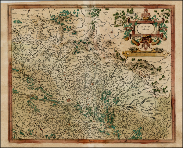 65-France and Germany Map By  Gerard Mercator