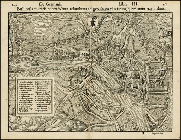 47-Switzerland Map By Sebastian Munster