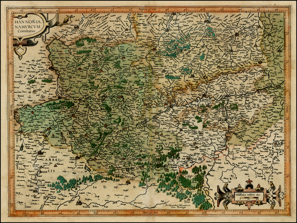 72-Belgium Map By  Gerard Mercator