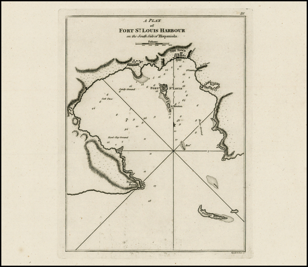 72-Caribbean and Hispaniola Map By Sayer & Bennett