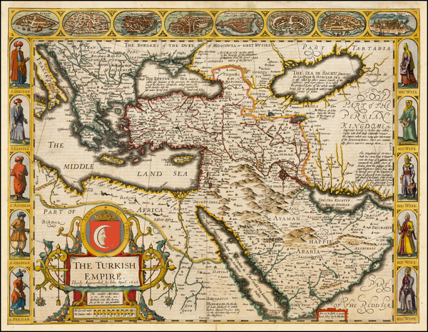 76-Russia, Ukraine, Turkey, Mediterranean, Middle East and Turkey & Asia Minor Map By John Spe