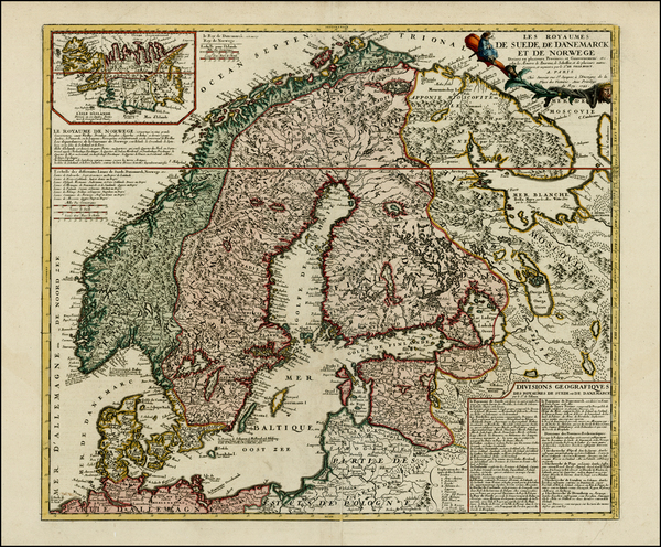 92-Scandinavia Map By Jean Janvier / Jean-Baptiste Nolin