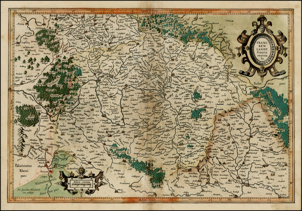 83-Germany Map By  Gerard Mercator