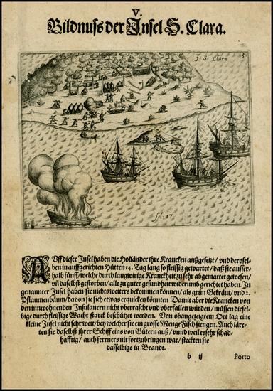 56-Brazil Map By Theodor De Bry - Olivier Van Noort