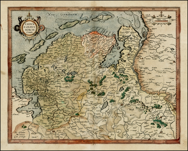 93-Germany Map By  Gerard Mercator