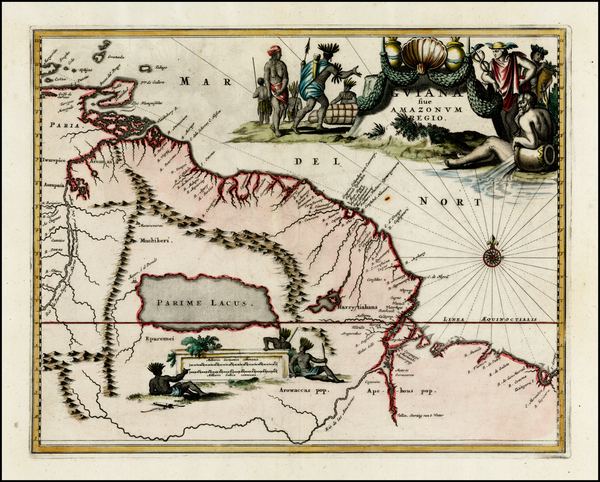 44-Guianas & Suriname Map By John Ogilby