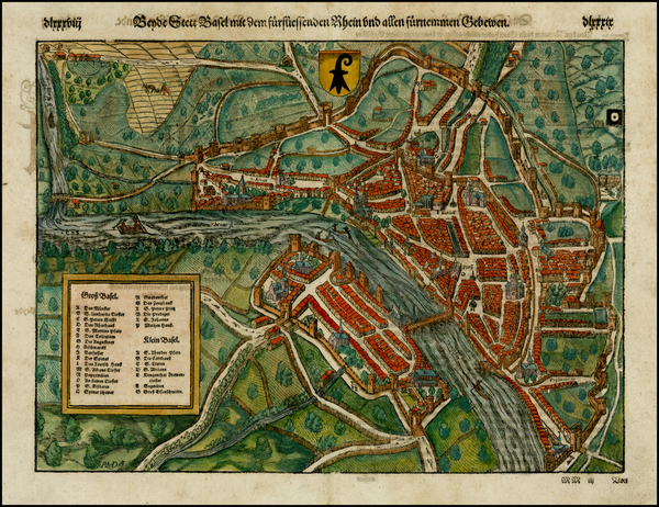 34-Switzerland Map By Sebastian Munster