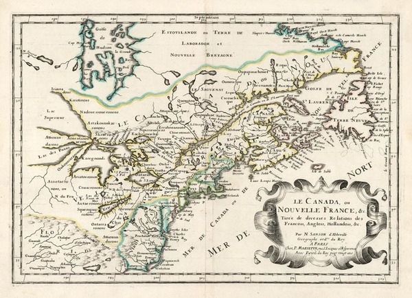 97-New England, Midwest and Canada Map By Nicolas Sanson