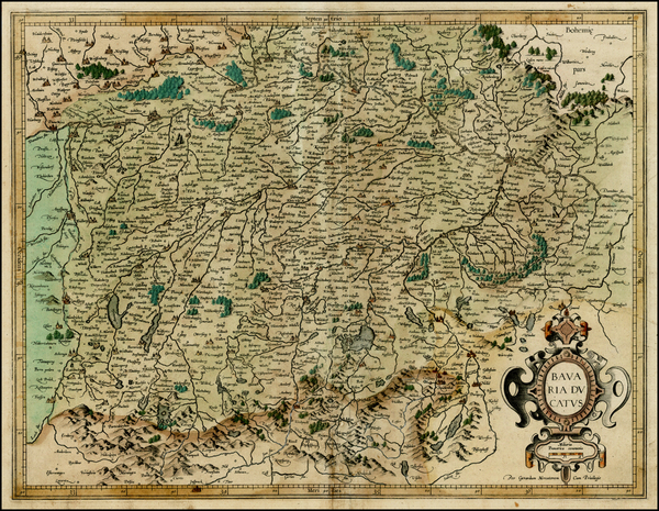 55-Germany Map By  Gerard Mercator