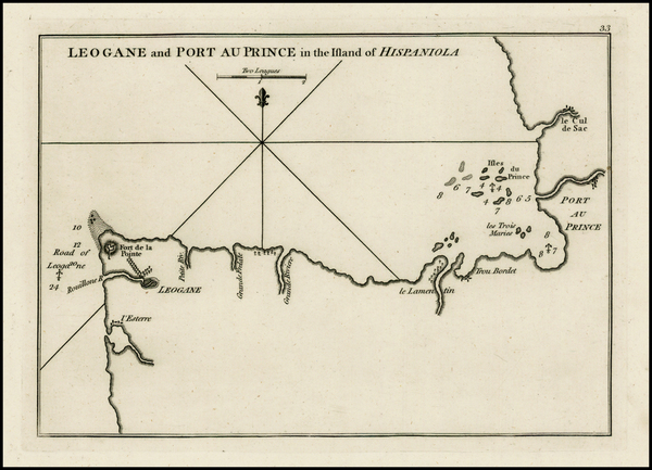 76-Caribbean and Hispaniola Map By Sayer & Bennett