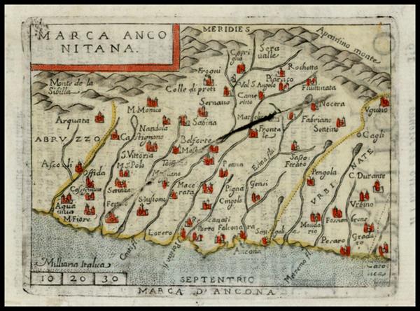 60-Italy Map By Abraham Ortelius / Pietro Marchetti