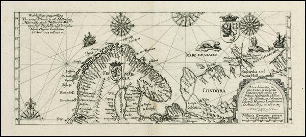 88-Polar Maps, Russia and Scandinavia Map By Theodor De Bry