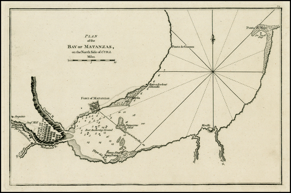36-Caribbean and Cuba Map By Sayer & Bennett