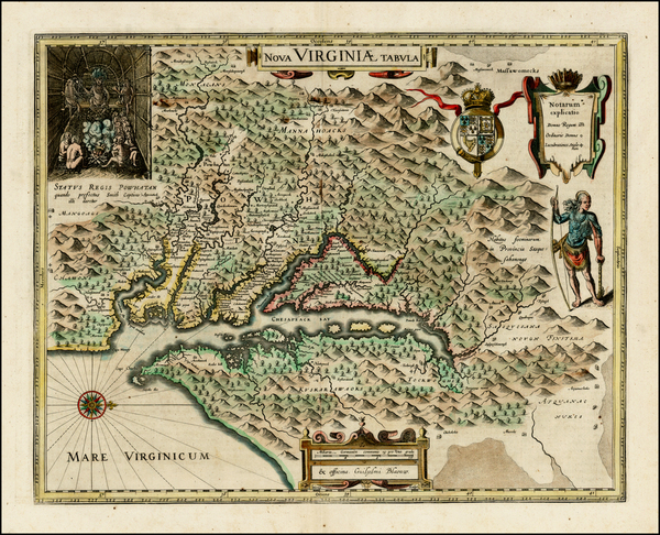60-Mid-Atlantic and Southeast Map By Willem Janszoon Blaeu