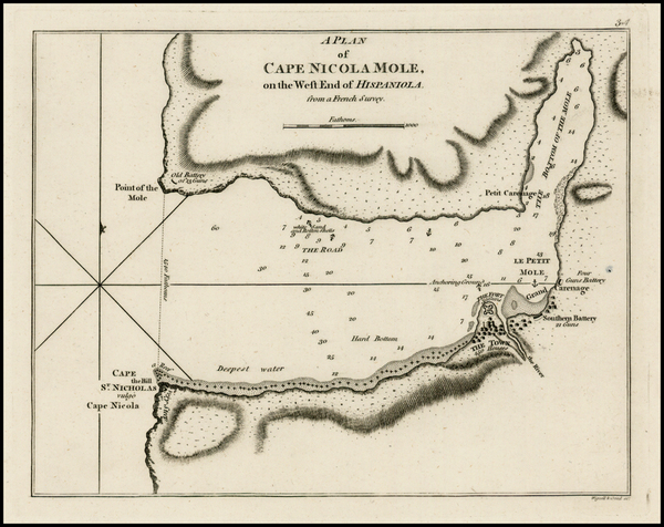 15-Caribbean and Hispaniola Map By Sayer & Bennett