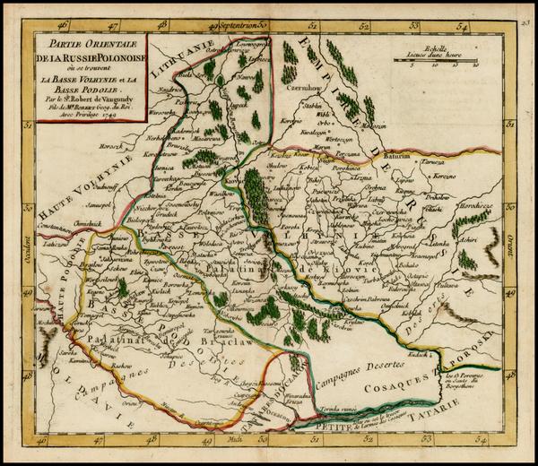 66-Poland and Ukraine Map By Didier Robert de Vaugondy