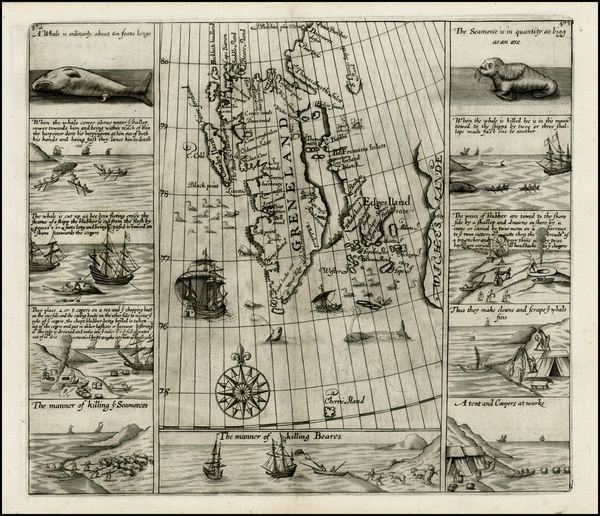 53-Northern Hemisphere, Polar Maps, Russia and Scandinavia Map By Samuel Purchas