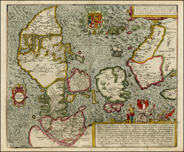 65-Germany, Baltic Countries and Scandinavia Map By Georg Braun  &  Frans Hogenberg