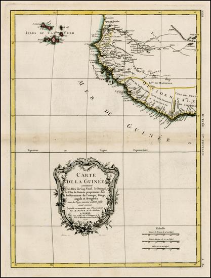 42-West Africa and African Islands, including Madagascar Map By Rigobert Bonne / Jean Lattré