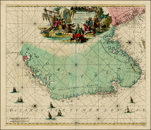 71-Scandinavia Map By Louis Renard