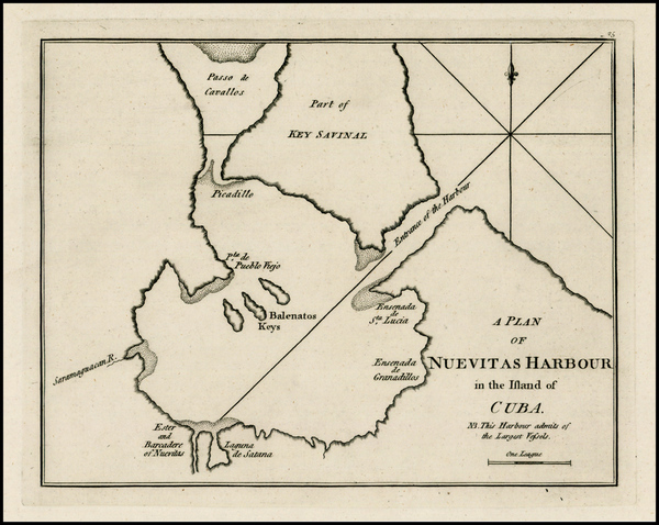 79-Caribbean and Cuba Map By Sayer & Bennett