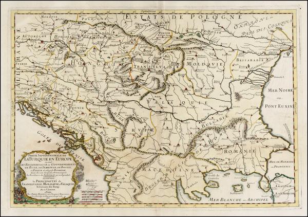 80-Ukraine, Romania, Balkans, Greece and Turkey Map By Nicolas Sanson