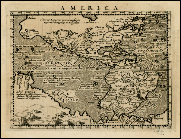 3-Western Hemisphere, Polar Maps, South America, Australia and America Map By Giovanni Antonio Ma