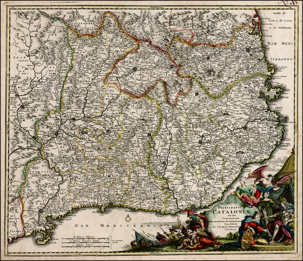 71-Spain Map By Johann Baptist Homann
