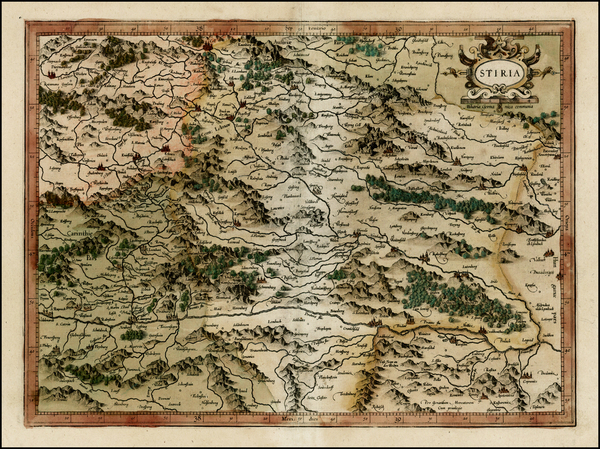 83-Austria and Balkans Map By Gerhard Mercator