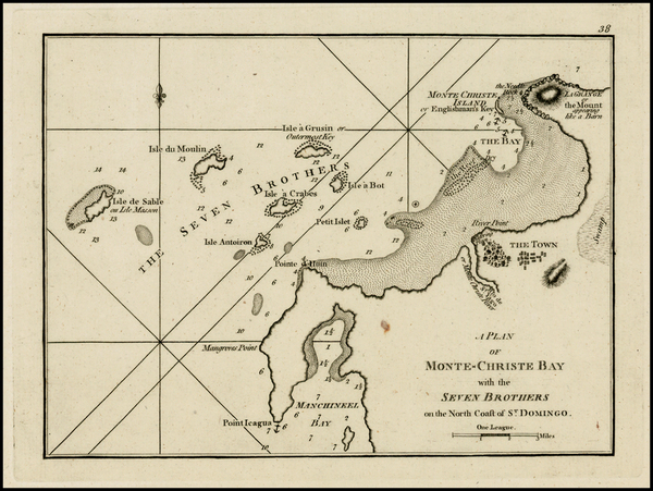 66-Hispaniola Map By Sayer & Bennett