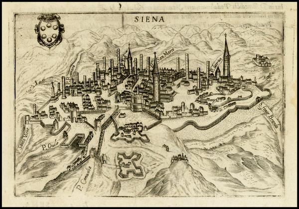 34-Italy Map By Pietro Bertelli